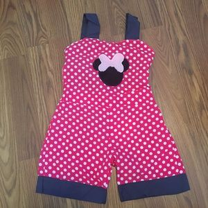 Other - MINNIE POLKA DOT DISNEY TODDLER OPEN BACK ROMPER